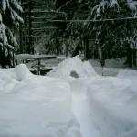 Schneeberäumung am eigenen Haus