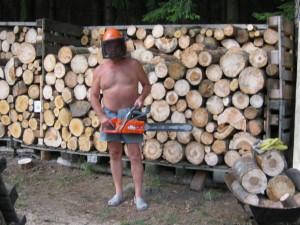 Waldschrapp bei der Arbeit